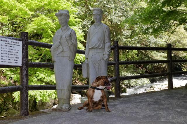 伊豆の踊子の石像