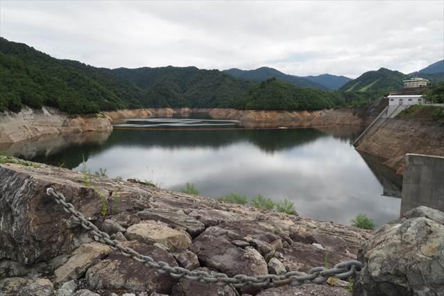 8月16日現在の奈良俣ダム貯水量