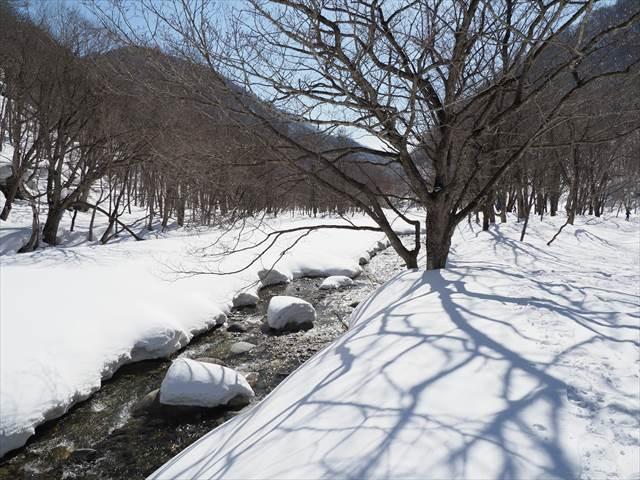 湯桧曽川沿い