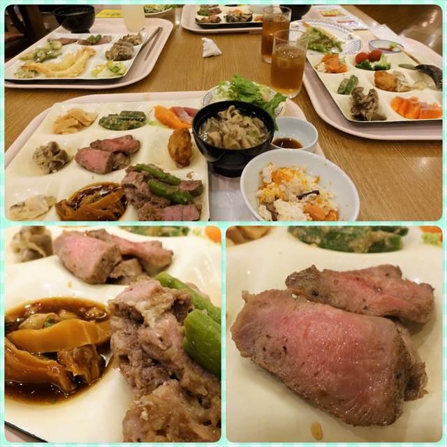 ホロホロ山荘の夕飯ビュッフェ