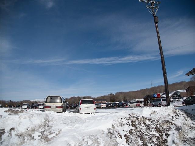 たんばらスキーパーク駐車場