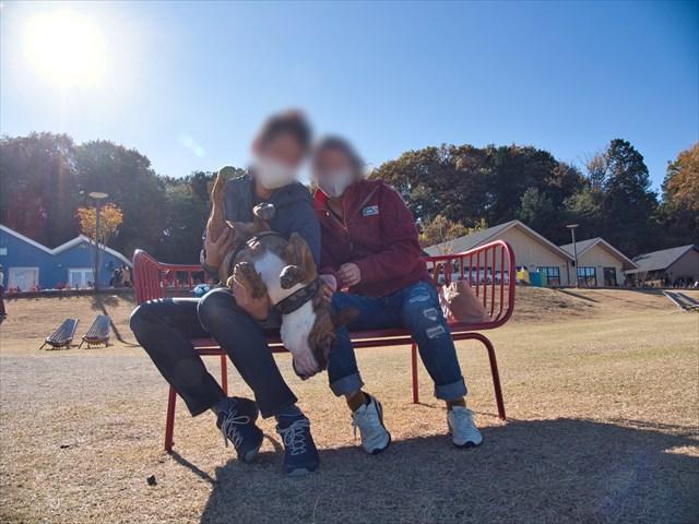 愛犬と家族写真